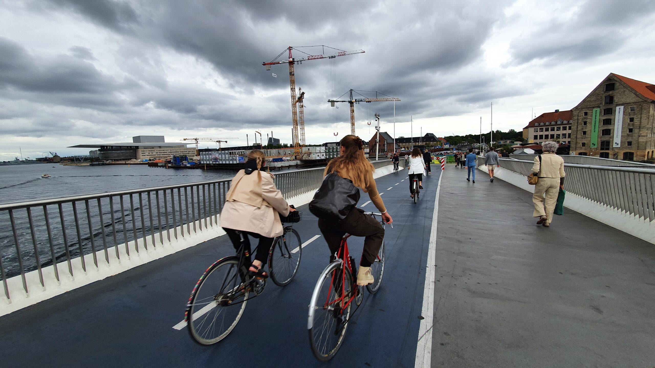 Wyprawa rowerowa, trójkołowy rower poziomy, Rowerem przez Danię
